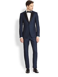 dark blue tuxedo #burberry