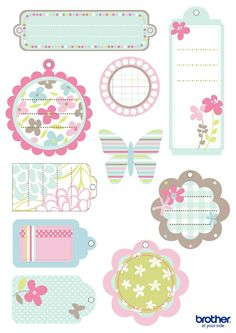 Create, customize and print custom party decorations. Leverage Brother Creative Center's party decorations templates for Mother's Day Tags. Printable Planner Stickers, Printable Labels, Printable Paper, Free Printables, Happy Planner, Scrapbook Paper, Gift Tags, Creations, Paper Crafts