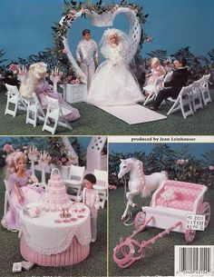 labores de esther. todo para barbie: Plastic canvas: Celebra la boda de barbie
