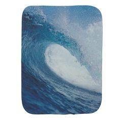 OCEAN WAVE 2 BABY BURP CLOTHS