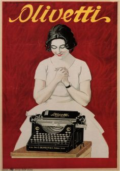 Olivetti poster by Marcello Dudovich, 1926