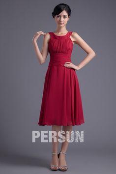 Robe d'été pour demoiselle d'honneur en mousseline rouge $203.99 #my wedding #pour #robe #wedding dress #bridal gown #demoiselle #d'honneur #en #bridal #d'été #wedding #mousseline #rouge