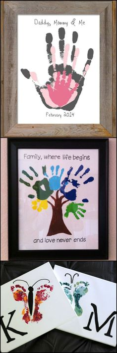 Here's a cute activity to do with the kids... Hand and footprint art! http://craft.ideas2live4.com/2015/03/26/hand-and-footprint-art/ A great way to encapsulate just how little they once were. Get the whole family's hands dirty and create memorable artwork like these :)