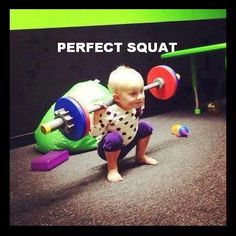 Perfect squat, im jealous.. too cute haha .. love the kiddie workout toys