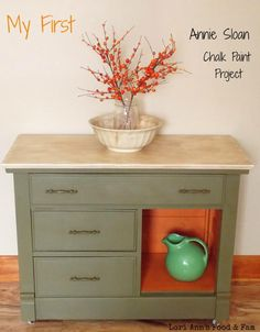 love, love this paint combo-Annie Sloan Old Ochre, Olive, Barcelona Orange