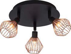 Dalma lampa sufitowa industrialna 21034/76 3 x G9 33 W czarna, miedziana