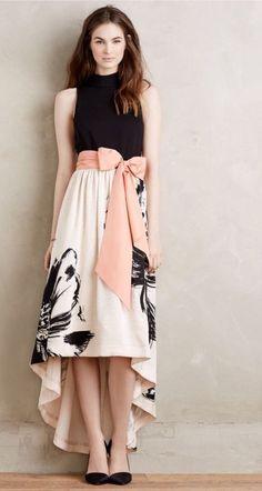NWT Anthropologie Sumi Mockneck Floral Gown by Moulinette Soeurs Dress Sz 4 #Anthropologie #AsymmetricalHem #Cocktail