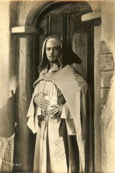 A still in costume for the never made Hooded Falcon