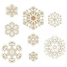 Stencil Deco Fiesta 008 Navidad Copos De Nieve