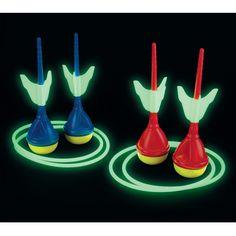 The Glow in the Dark Lawn Darts - Hammacher Schlemmer