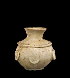 OBJECT NAME  Jar DIMENSIONS  Overall H: 6.1 cm, Diam (max): 5.7cm DATE  500-699