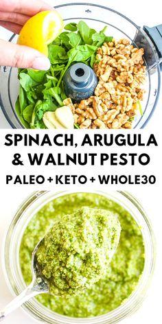 Pesto Dip, Pesto Spinach, Pesto Aioli, Arugula Recipes, Arugula Pesto Recipe, Paleo Pesto, Paleo Bbq Sauce, Instant Pot, Keto Sauces