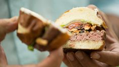 Goat Butter Burger with Mushrooms & Oven-Dried Tomatoes – Andrew Zimmern Grilling Recipes, Cooking Recipes, Oven Dried Tomatoes, Butter Burgers, Great Recipes, Favorite Recipes, Squash Vegetable, Andrew Zimmern, Food & Wine Magazine