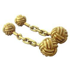 Classic Jean Schlumberger Gold Knot Cufflinks | 1stdibs.com