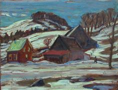 Alexander Young Jackson, 'Farm Near St-Jovite, Quebec' at Mayberry Fine Art 10.5 x 13.5 (1962)