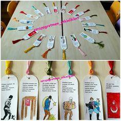 Çanakkale Zaferi için geçen seneki Çanakkale öykülü kitap ayraçlarımız 📚📖 #canakkale #serapogretmen #serapogretmen_etkinlikleri 18th, Diy Crafts, Kindergarten, Preschool, Tuesday, Make Your Own, Craft, Kindergartens, Do It Yourself Crafts