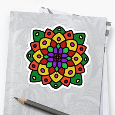 Hand Drawn mandala style flower. • Millions of unique designs by independent artists. Find your thing.
