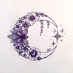 You could change the stars to the Cancer constellation. You could change the stars to the Cancer constellation. You could change the stars to the Cancer constellation. Star Tattoos, Body Art Tattoos, Moon Star Tattoo, Tatoos, Half Moon Tattoo, Tattoos Skull, Tattoo Mond, Moon Tattoo Designs, Body Art