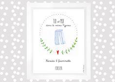 "Illustration St Valentin"" toi et moi""Mlle Moutarde de Eudeline Mlle Moutarde sur DaWanda.com"