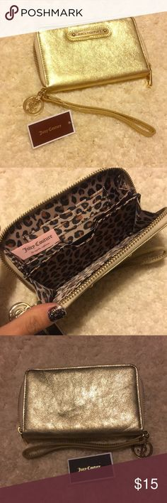 Juicy couture wallet 🔥❤️NWT Beautiful NWT wallet (: zipper works great . Cheetah  print inside 😍🔥 make me an offer Juicy Couture Bags Wallets