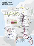 Metro France Wine Map Poster Poster