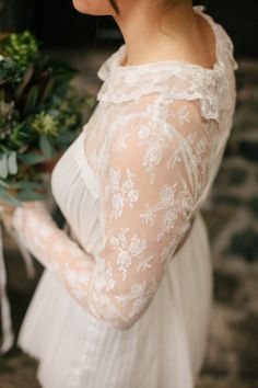 a lace sleeved dress by http://www.freepeople.com/ Photography