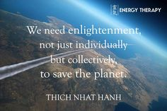 We need enlightenment, not just individually but collectively, to save the planet. We need to awaken ourselves. We need to practice mindfulness if we want to have a future, if we want to save ourselves and the planet.