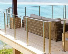 Rainier cable railing systems are the ideal solution when looking for an exceptionally sleek, modern and virtually-transparent railing system. Rainier features an elegant, linear horizontal aesthetic with its thin, highly-durable stainless steel cabling interior that is ideal for both stairways and outdoor decking areas. Rainer's time-proven durability and simplicity offers a contemporary look designed to last a lifetime.