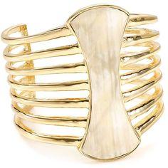 Robert Lee Morris Soho Cuff (€70) ❤ liked on Polyvore featuring jewelry, bracelets, gold, boho bangles, gold cuff jewelry, yellow gold jewelry, cuff bangle and bohemian style jewelry