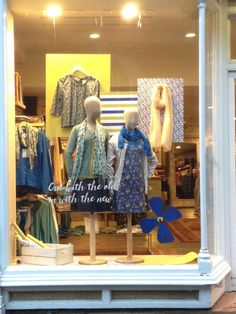 'Out with the old in with the new' Spring 16 window display.