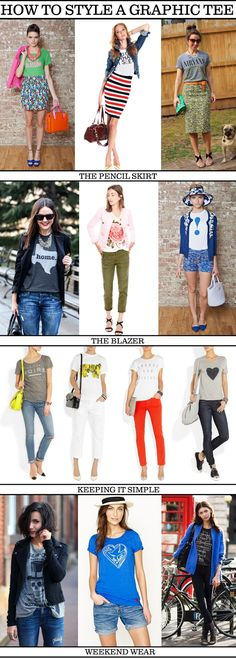 ways to wear a graphic tee | graphic tees we ve all got them but how to wear them my friend d was ...