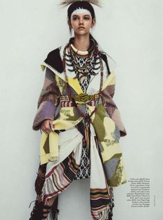 Publication: Vogue Australia April 2014 Model: Marina Nery Photographer: Sebastian Kim Fashion Editor: Katie Mossman Hair: Bok-Hee Make-up: Mariel Barrera Ethnic Fashion, Trendy Fashion, High Fashion, Womens Fashion, Fashion Trends, Ankara Fashion, Africa Fashion, Fashion Bloggers, Foto Fashion