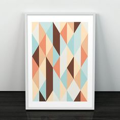 Geometric print Scandinavian poster Nordic by ShopTempsModernes