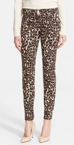 Leopard print jeans? Yes, please!
