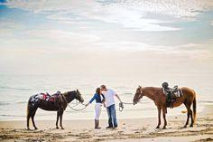 Engagement Session in Santa Barbara, California. Engagement Photos // Couple Photos // Posing Ideas // Equine // Horses // CeJae Photography