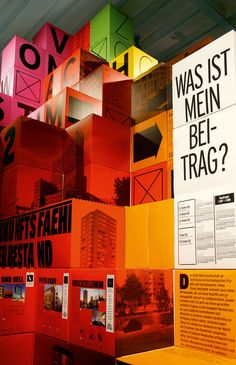 Exhibition Zurich City, Colored Boxes #Exhibition & Trade Show Design