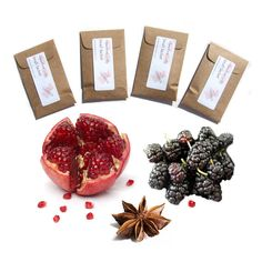 4 Midnight Pomegranate Type Scented Sachets by pebblecreekcandles,
