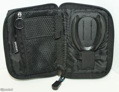 BLACK CARRY OR TRAVEL CASE ONLY FOR ONE TOUCH ULTRA 2 ELECTRONIC DEVICE USED #OneTouchUltraBlue