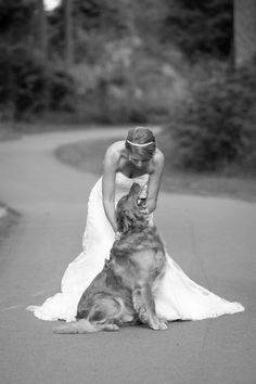 Repinned: Bride and her dog