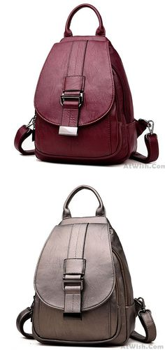 17429b7041 Elegant Small Single Button Multifunction Shoulder Bag Pu Mini Girl s  Backpack  backpack  student