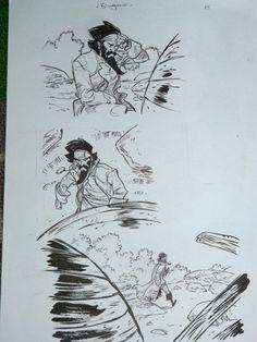 Bingono - 5 Plates of Original Comic Strip Panels - Pavilion Noir V3 - W.B.