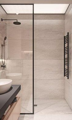 Bathroom 63 Luxury Walk in Shower Tile Ideas That Will Inspire You - Page 38 of 63 - My Home Design Shower Tile Designs, Walk In Shower Designs, Small Bathroom, Master Bathroom, Master Baths, Bathroom Shower Doors, Vanity Bathroom, Brown Bathroom, Modern Bathroom