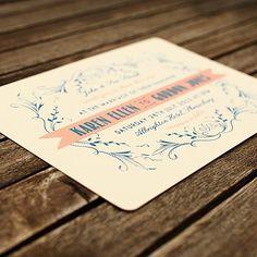 coral & navy @Laura Jayson Jayson Jayson Edmonds  design  stamp design for grey envelope