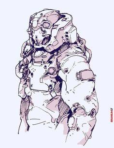 random sketches, Brian Sum on ArtStation at https://www.artstation.com/artwork/34KzY