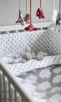 little sheep cot bed bedding by nubie modern kids boutique | notonthehighstreet.com