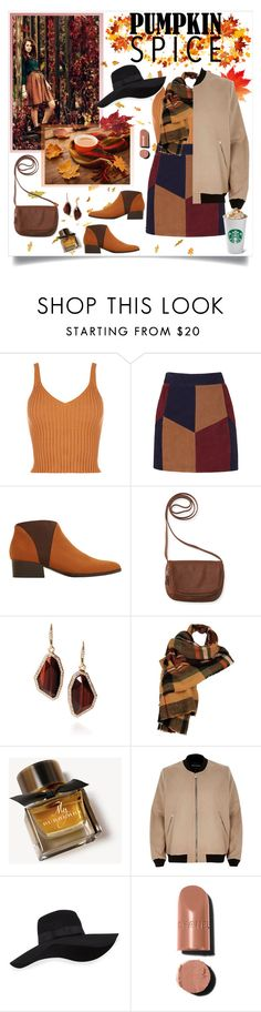 """Pumpkin Spice Style"" by dooda13 ❤ liked on Polyvore featuring La Marque, MANGO, Aéropostale, Chloe + Isabel, Wilsons Leather, Burberry, River Island, San Diego Hat Co. and Chanel"