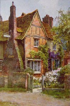 Milton's Cottage ~ E.W.Haslehust, R.B.A.