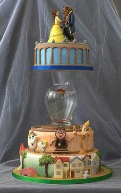 Beauty and the Beast wedding cake ♡