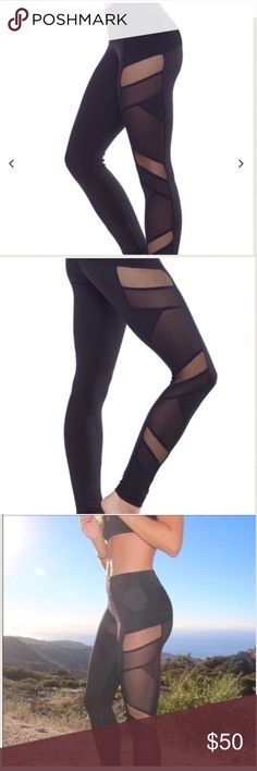 Electric yoga sexy mesh leggings Size small. Reposh because I need an XS. Electric yoga. Never worn. Retail for over $100. Electric Yoga Pants Leggings