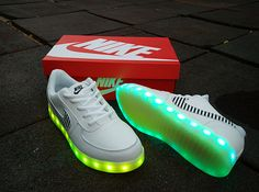 Led Light Up Nike Air Force One Lighting Soles White Sneakers for adults